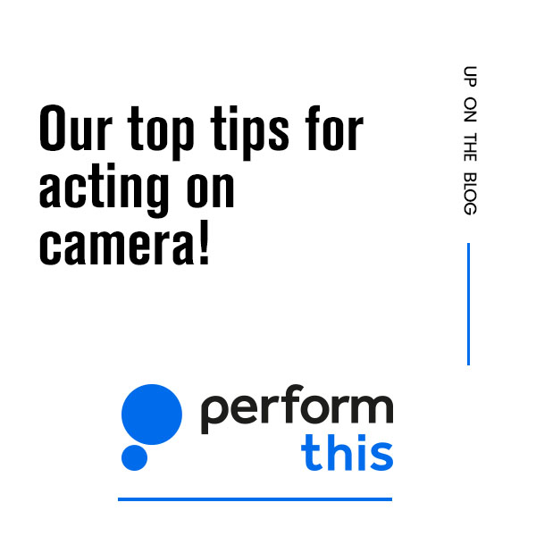 Our top tips for acting on camera